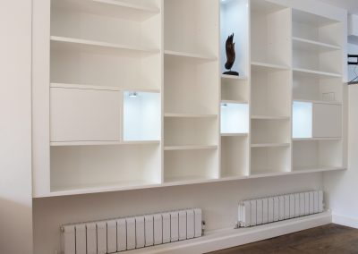 Bookcase, LED spots